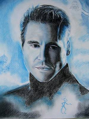Val Kilmer Wall Art - Drawing - Val Kilmer- The Saint Detail by Anne Provost