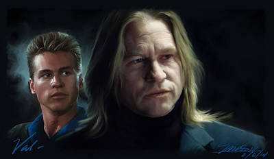 Val Kilmer Wall Art - Digital Art - Val by Mark Gallegos
