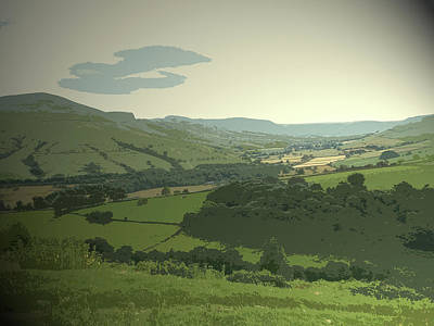 Vale Drawing - Vale Of Edale From Jaggers Clough, One Of The Best Places by Litz Collection