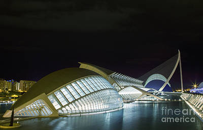 Photograph - Valencia At Night by Fabian Roessler