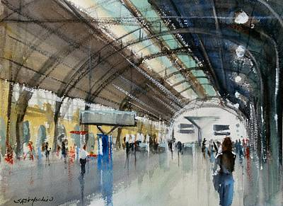 Painting - Valencia Transit Platform by Sandra Strohschein