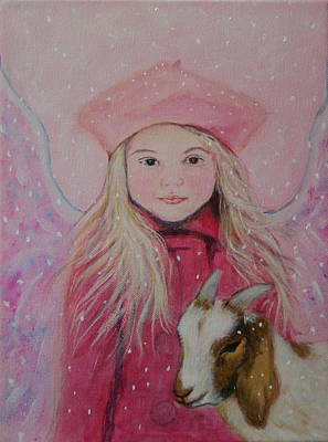 Painting - Valentina Little Angel Of Perseverance And Prosperity by The Art With A Heart By Charlotte Phillips