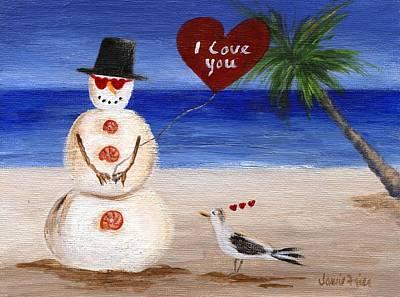 Painting - Valentine Beach Sandman by Jamie Frier