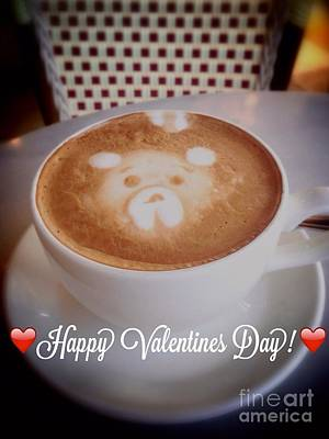 Photograph - Valentine Bear Latte by Susan Garren
