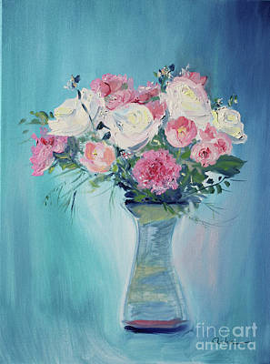 Painting - Valentine Bouquet by Asha Carolyn Young