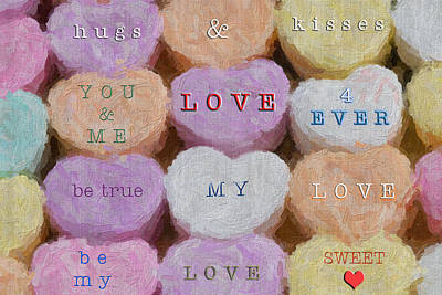 Valentine Candy Art Print