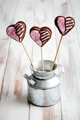 Photograph - Valentine Cookie Pops by Kati Finell