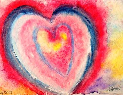 Painting - Valentine Heart by Jamie Frier