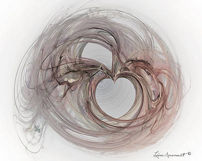 Digital Art - Valentine Heart by Leona Arsenault