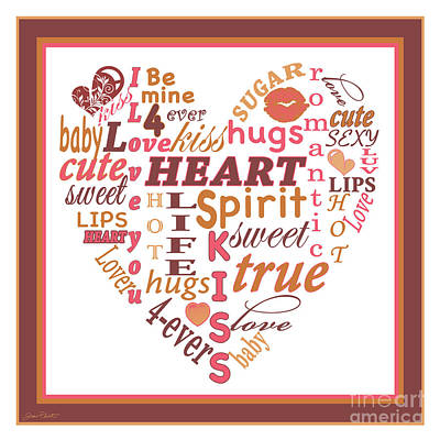 Valentine Heart Typography-jp2449 Original by Jean Plout