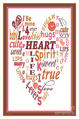 Valentine Heart Typography-jp2450 Original by Jean Plout