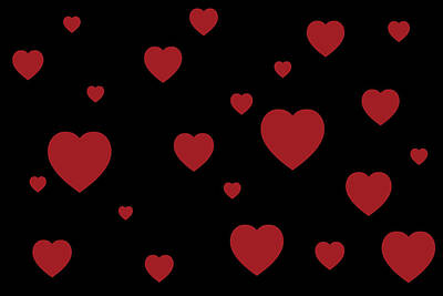 Valentines Day Digital Art - Valentine Hearts by Chastity Hoff