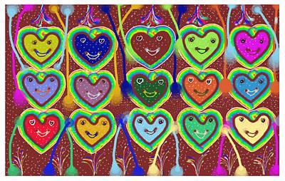 Valentine Hearts Art Print by Karunita Kapoor