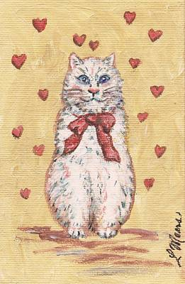 Valentine Kitty One Art Print by Linda Mears