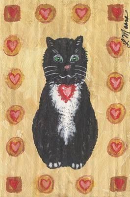 Valentine Kitty Two Art Print