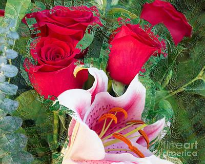 Printmaking Mixed Media - Valentine by Laura L Leatherwood