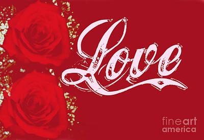 Digital Art - Valentine Love by Mindy Bench
