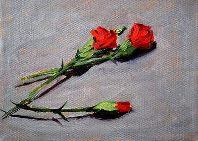 Painting - Valentine by Nancy Merkle