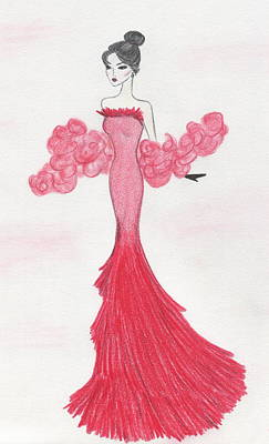 Drawing - Valentine Red   by Christine Corretti