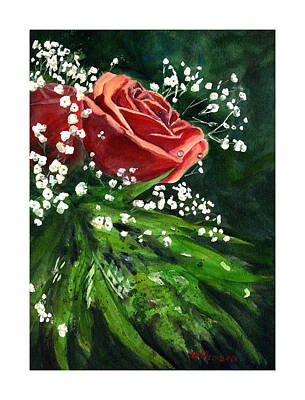 Painting - Valentine Rose by Sue Henson