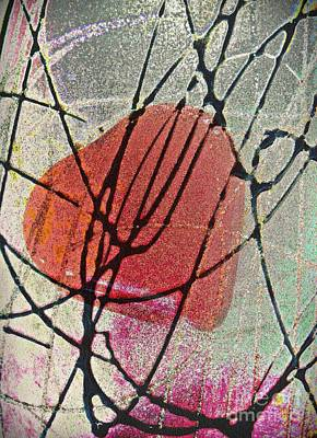 Abstract Hearts Digital Art - Valentine by Sarah Loft
