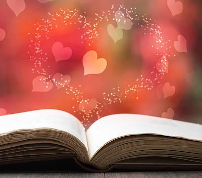 Valentine Story Book Art Print