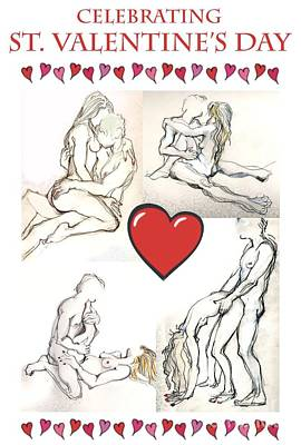 Mixed Media - Valentine - Valentine's Day Cards by Carolyn Weltman