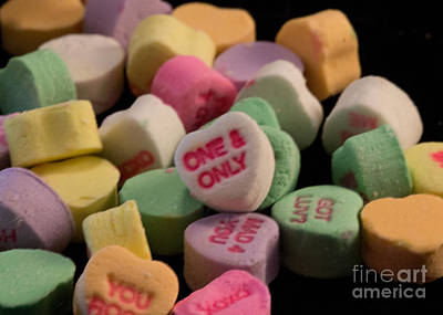 Photograph - Valentines Candy Heart 1 by Sandra Clark