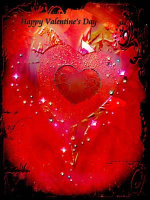Digital Art - Valentine's Day Card by Linda Sannuti