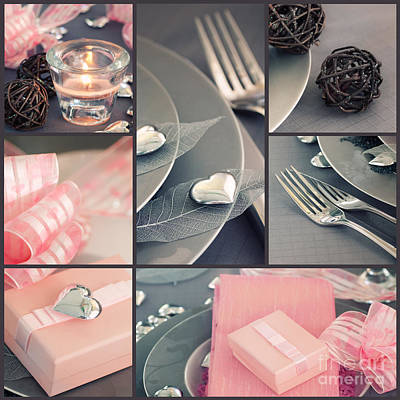 Valentine's Day  Collage Art Print by Mythja  Photography
