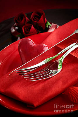 Banquet Photograph - Valentine's Day Dinner by Mythja  Photography