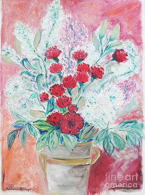 Painting - Valentine's Day Flowers by Barbara Anna Knauf