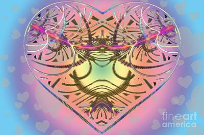 Digital Art - Valentine's Day Fun by Peggy Hughes