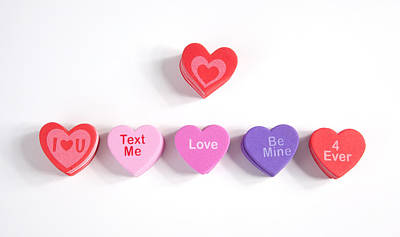 Photograph - Valentine's Day Hearts by Scott Sanders