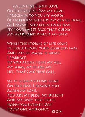 All Occasion Card Mixed Media - Valentine's Day Love by Debra     Vatalaro