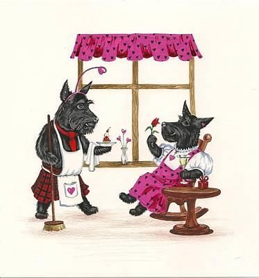 Valentines Day Macduf Art Print by Margaryta Yermolayeva