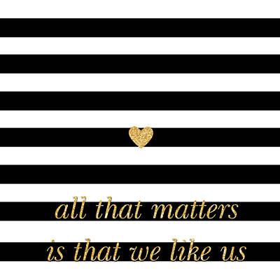 Matter Digital Art - Valentine's Stripe II by South Social Studio