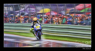 Photograph - Valentino Rossi Fans Line The Fence by Blake Richards