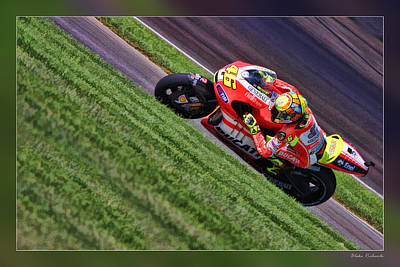 Photograph - Valentino Rossi Going Up by Blake Richards