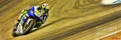Photograph - Valentino Rossi Leans It Over by Blake Richards