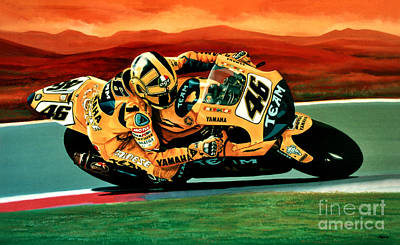 Realistic Painting - Valentino Rossi The Doctor by Paul Meijering
