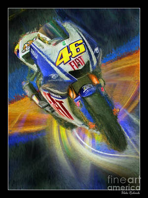Photograph - Valentino Rossi's Motogp Fiat Yamaha  by Blake Richards