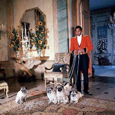Candid Photograph - Valet Sydney Standing With The Duke And Duchess by Horst P. Horst