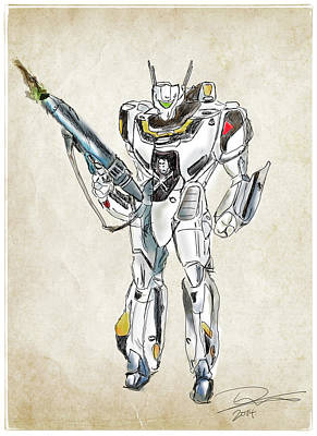 Drawing - Valkyrie Vf-1s by Tim Nichols