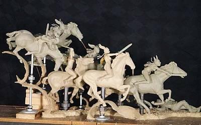 Sculpture - Valkyries by Hugh Blanding