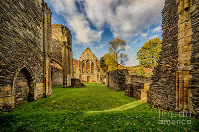 Medieval Entrance Photograph - Valle Crucis Abbey Ruins by Adrian Evans