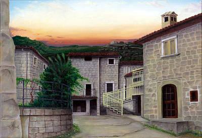 Art Print featuring the painting Vallecchia De Monte Calvo by Albert Puskaric