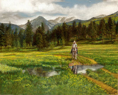 Vallecito Meadows Art Print by Harriett Masterson