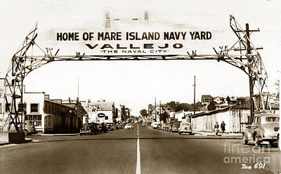 Photograph - Vallejo The Navy City Home Of Mare Island Navy Yard Circa 1941 by California Views Mr Pat Hathaway Archives