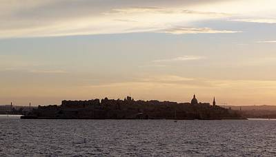 Maltese Photograph - Valletta At Dusk by Katie Beougher